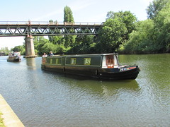 Narrowboats... (Marie on Flickr) Tags: narrowboat water worcester severn bridge trees