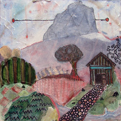 sonoma meets the 100 views (Beersama) Tags: trees house color history texture field fog painting landscape happy escape flat path mixedmedia small warped dreaming oil expressionism layers depth graphite oneric warmplace