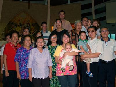 Justin's baptism group photo