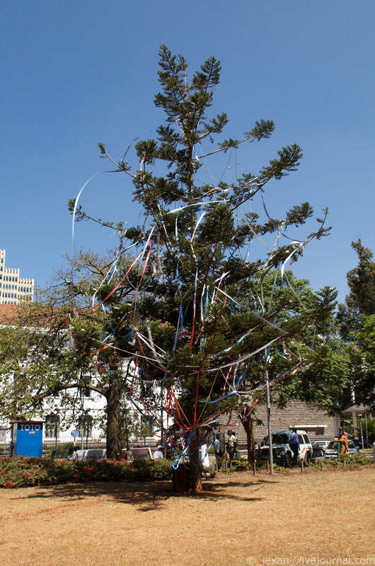 Christmas tree in a center of Nairobi