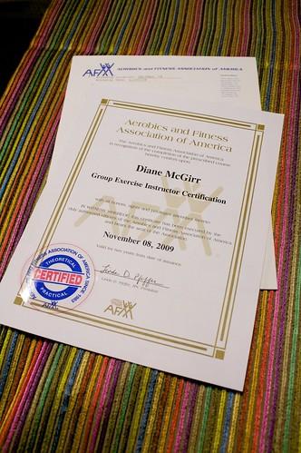 Diane & Jeffrey » AFAA Certification Results