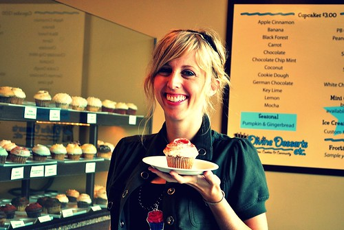 Elise @CupcakeActivist displaying a fab cupcake!