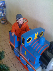 Riding Thomas the Tank Engine (theolane) Tags: adam thomasthetankengine iphone strasburgpa