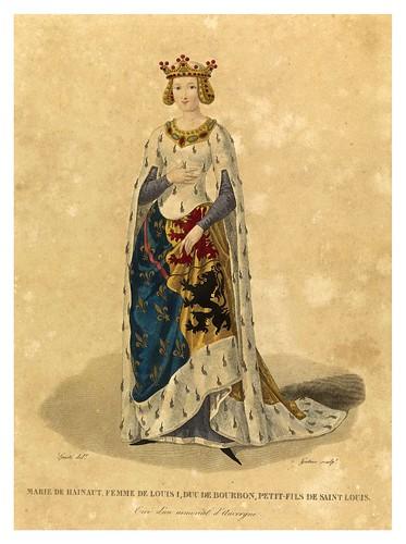 005-Marie de Hainaut esposa de Luis I-Galerie Française de femmes célèbres 1827- Louis Marie Lanté