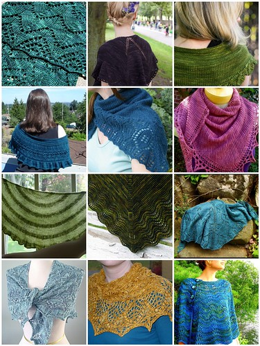 10 shawls in 2010 - inspirations