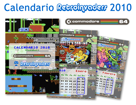 Calendario Retroinvaders 2010: juegos de Commodore 64
