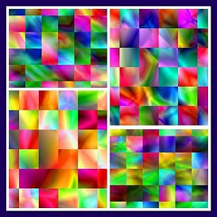 Weave Of Colors (Ate My Crayons) Tags: blue red abstract color green art colors yellow collage digital rainbow fdsflickrtoys flickr pattern quilt mosaic abstractart digitalart favorites gimp mosaics vivid photomosaic tiles computerart patch amc patchwork weave tutorial tileart mosaicart gmic struckbyrainbow
