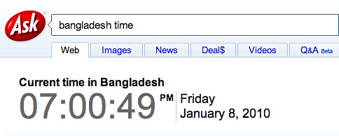 Ask: Time in Bangladesh