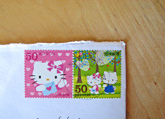 Hello Kitty (esmereldes) Tags: mail stamps hellokitty sanrio stamp letter postage christmascard deardaniel img9911