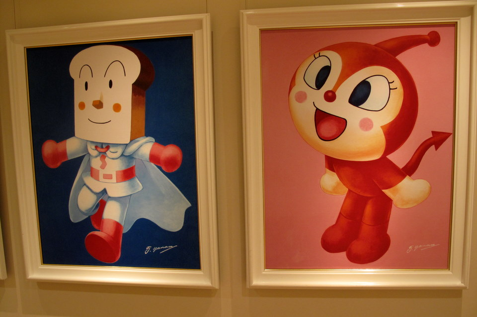 Paintings of some of the characters.