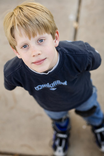 2010pad-013: Boy Child with Roller Blades*