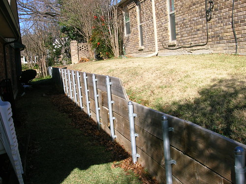 Retaining Wall xeriscape