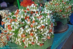 Mysore - Devaraja market (dietmut) Tags: travel flowers india tourism reisen asia journey karnataka mysore bloemen reizen azi federalstate panasoniclumix devarajamarket dmcfx500 dietmut deelstaat witwhiteweiss