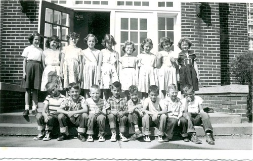 The Second-Grade Class of St John School in Seward, Nebraska, in 1955