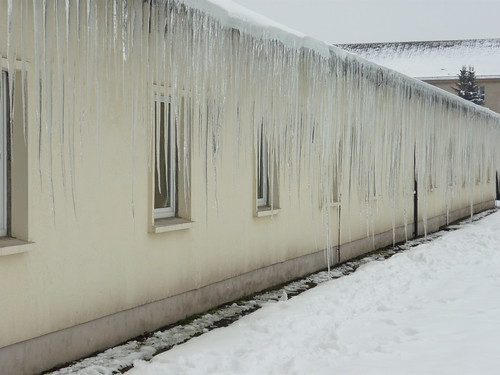 Winterimpression: Vorhang
