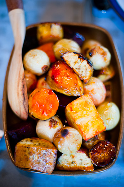 Roasted potatoes and kumara, Auckland