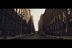 \_/ (- Loomax -) Tags: street newyork brooklyn glow perspective schoolbus cinematic frontpage warmcolors cinemascope
