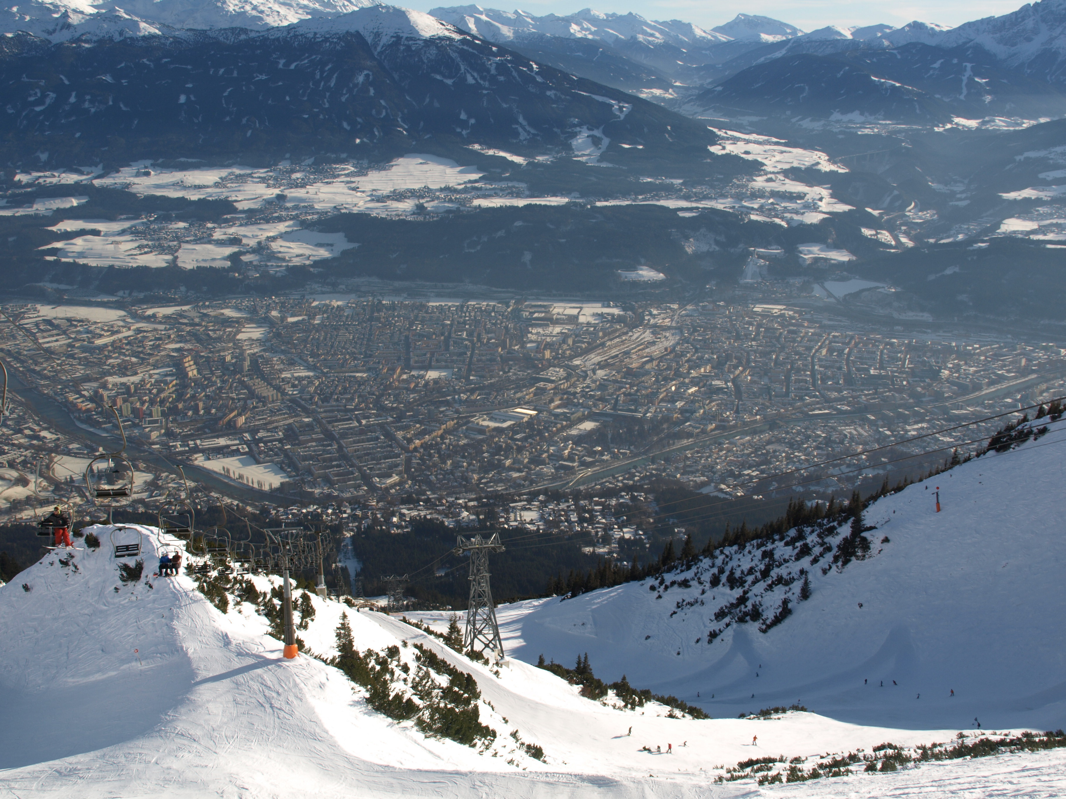 Innsbruck city and mountain backdrop