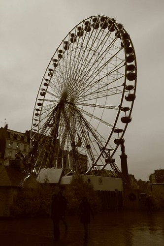 Ferris wheel in Lille, northern France.
