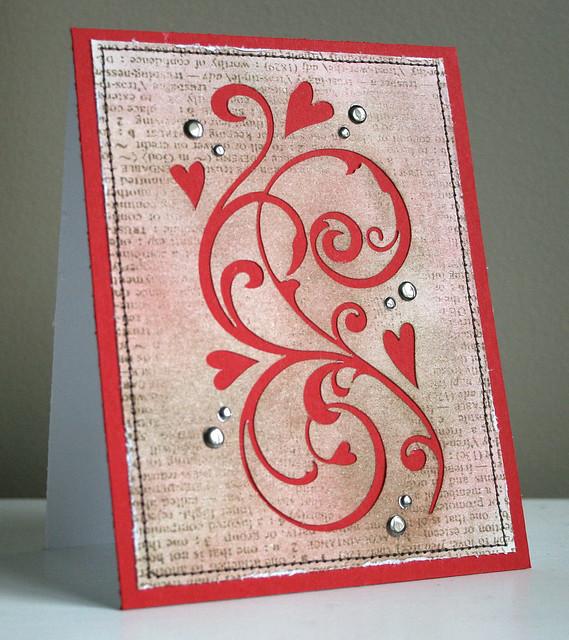 Heart Flourish card #2