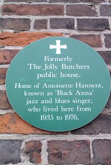 Photo of Antoinette Hannent green plaque