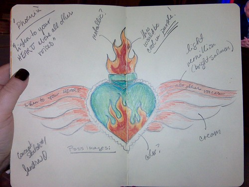 concept sketch for plaster heart