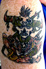 voodoo priest healed (Billy Whaley Tattoo) Tags: new old school color tattoo ink cool doll kentucky traditional badass indiana albany billy louisville priest custom voodoo asgard whaley