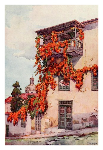 034-Un balcon antiguo en Gran Canaria-The Canary Islands (1911) -Ella Du Cane