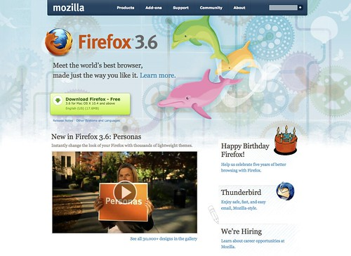 Mozilla.com Homepage (Firefox 3.6 Version)