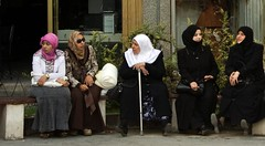 Women waiting in Damascus