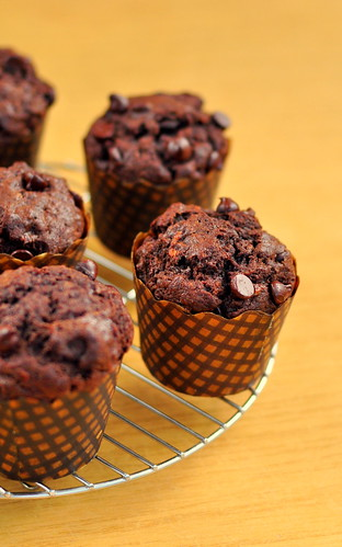 Sour Cream Banana-Chocolate Muffins