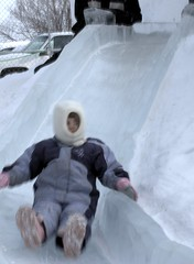 Ice on Whyte slide