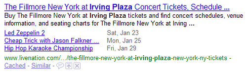 Google Rich Snippets for Events