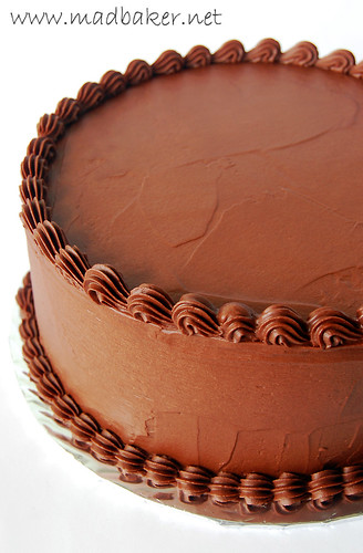 Devil's Food Cake with Valrhona 55% Whipped Chocolate Ganache