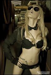 Esther  Melero (Alex Caballero Photography) Tags: barcelona sexy girl female canon chica smoke femme lenceria bonita belle esther bella hermos