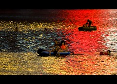 Boating The Liujiang (Michael Steverson) Tags: china city summer swimming canon river lights games rubber explore heat chinadigitaltimes allrightsreserved rafts guangxi expatriate liuzhou lifeboats explored 40d expatriategames liuzhang