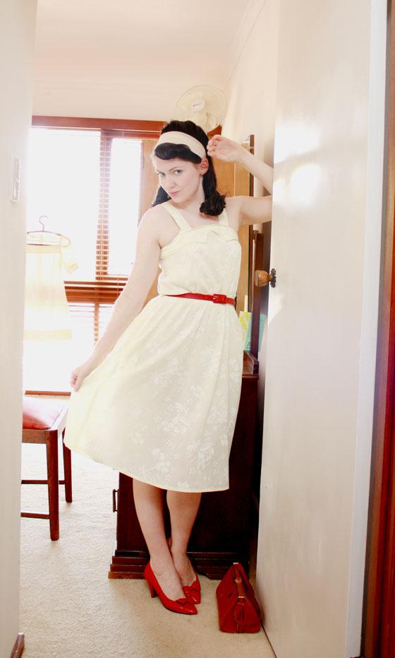 yellow summer dress6