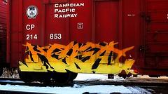 Kwest (mightyquinninwky) Tags: railroad train graffiti tag graf tracks railway tags tagged railcar rails unfinished boxcar graff cp graphiti freight notfinished trainart cpa fr8 railart spraypaintart hsa freightcar kwest boxcarart freightart taggedboxcar paintedboxcar nooutline paintedrailcar taggedrailcar trainsformyspacestation