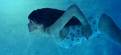 Just keep swimming... (Laura Campen) Tags: water swimming under anchor freckles brunette