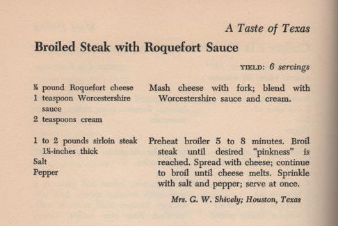 Broiled Steak with Roquefort Sauce