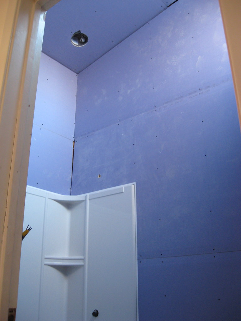 Drywall in bathroom - Jan 2010