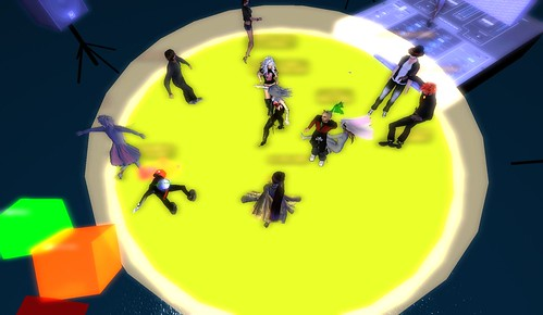 muzik haus party in virtual metaverse of second life