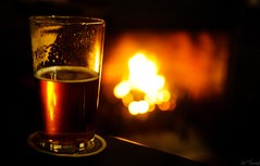 Pint & Hearth (tricky (rick harrison)) Tags: uk winter beer fire amber warm drink unitedkingdom ale warmth whitby heat hearth northyorkshire goodtimes realale stationinn realfire thestationinn