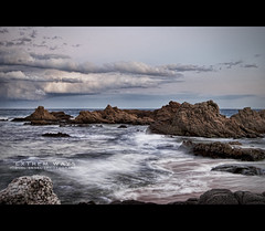 Extrem ways. (mireba72) Tags: blue sea water azul clouds mar spain agua nikon playa girona cielo catalunya costabrava cala rocas lloretdemar santacristina d60