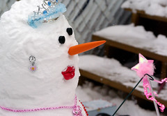 the snowprincess 2010 (citygirlny10305) Tags: tiara fun nose cool interesting snowman eyes funny different pentax wand creation carrot manmade earrings coal cs4 snowprincess