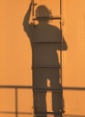 Shadow Climbing the Ladder at Sunset (S@ilor) Tags: california ca shadow usa west evening coast twilight san sandiego dusk good diego climbing ladder westcoast seaport mignon goodevening mywinners silor