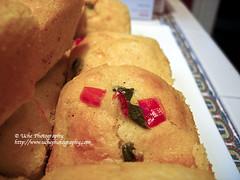 109/365 a view to cornbread (simis) Tags: red food green tile pattern bokeh 365 cornbread dailyphoto jalapeno day109 365bokeh bokeh365