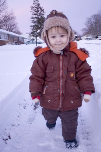 Nathaniel In The Snow