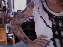 the never ending gypsy lady tattoo grows (ImAGingerMonkey) Tags: portrait tattoo self photobooth spf 52 fridays sairahunjan gypsylady