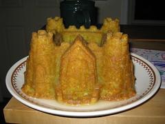 Castle-shaped margarita cake